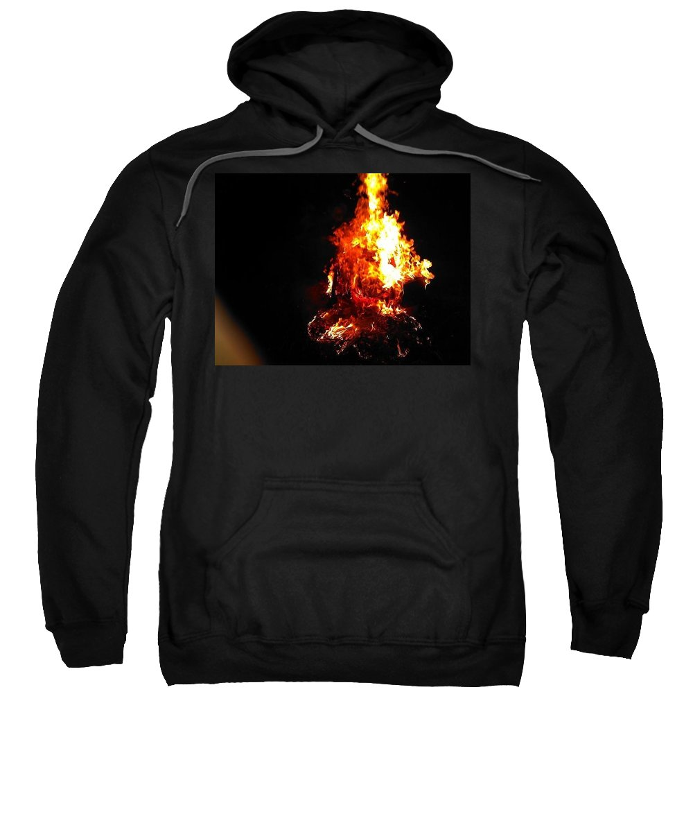 Fire Sweatshirt featuring the photograph Bonfire by Chase Hoskins