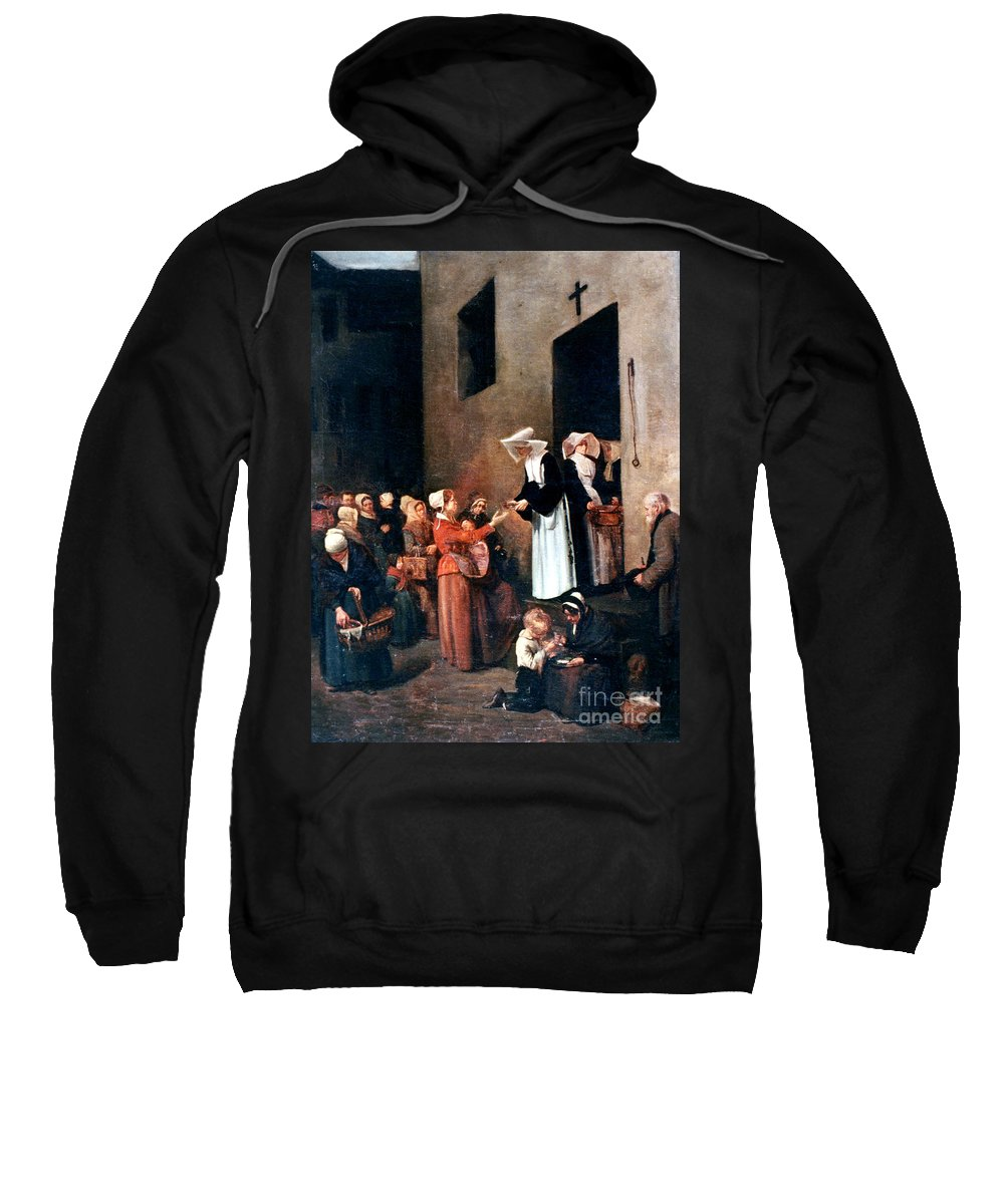 19th Century Sweatshirt featuring the photograph Bonvin: Charity, 1851 by Granger