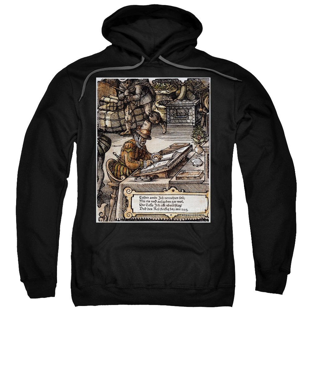 16th Century Sweatshirt featuring the photograph Bookkeeper, 16th Century by Granger
