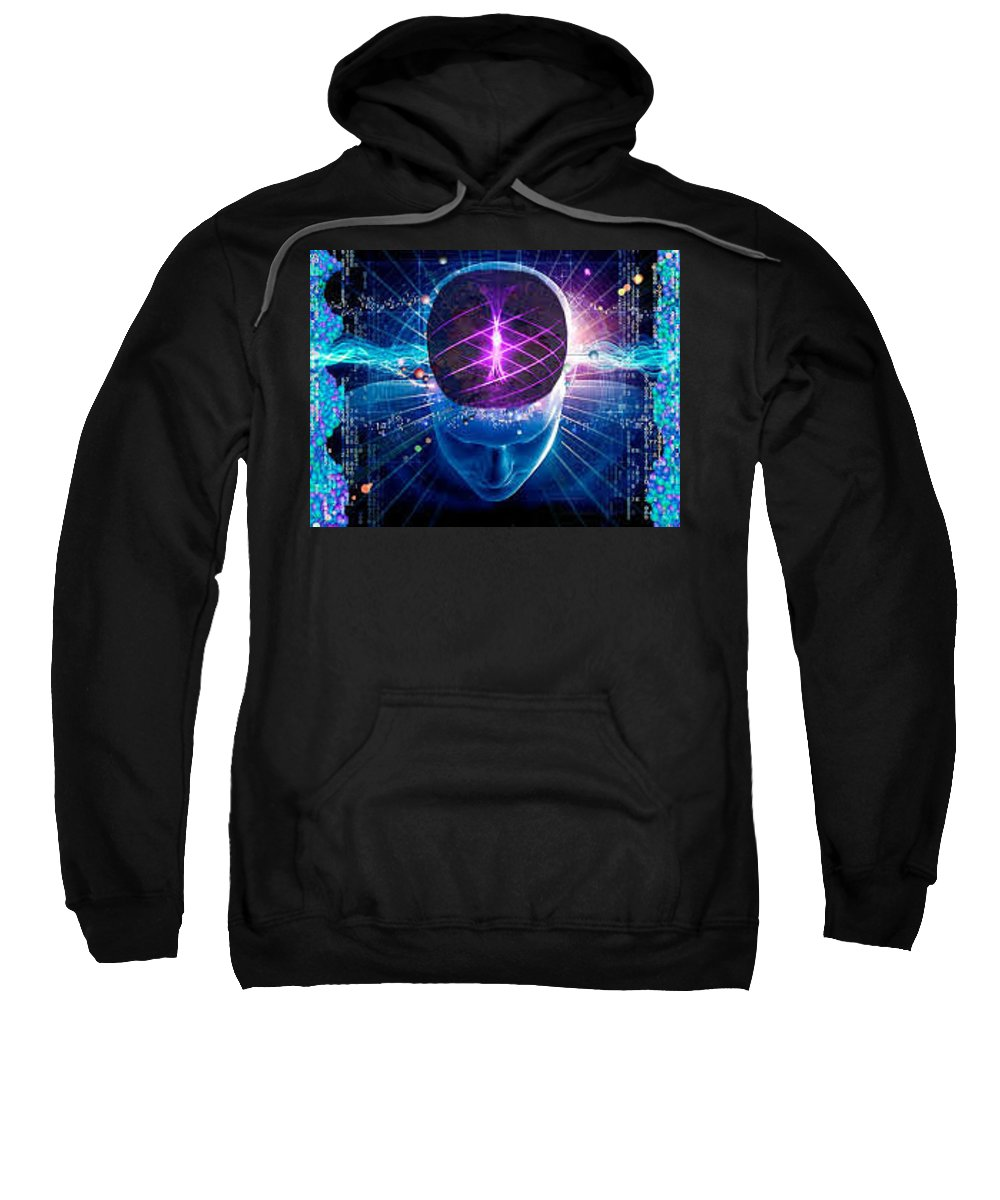 Geniux Pil Sweatshirt featuring the tapestry - textile Boost Brainpower And Memory by Agremxis