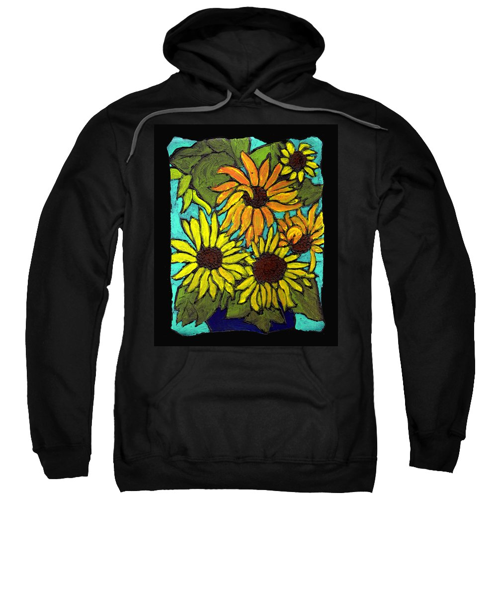 Flowers Sweatshirt featuring the painting Boquet Of Sunshine by Wayne Potrafka