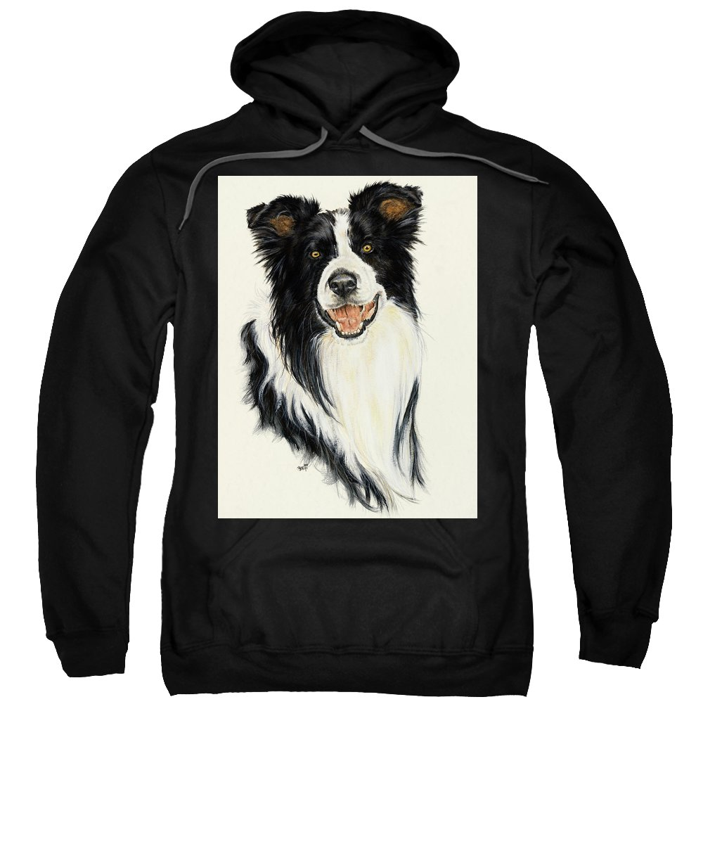 Collie Sweatshirt featuring the painting Border Collie by Barbara Keith