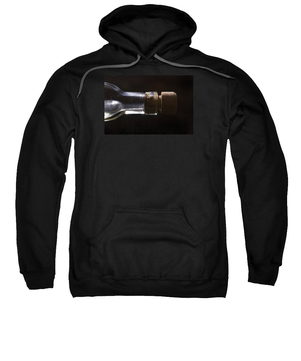 Cork Sweatshirt featuring the photograph Bottle And Cork-1 by Steve Somerville