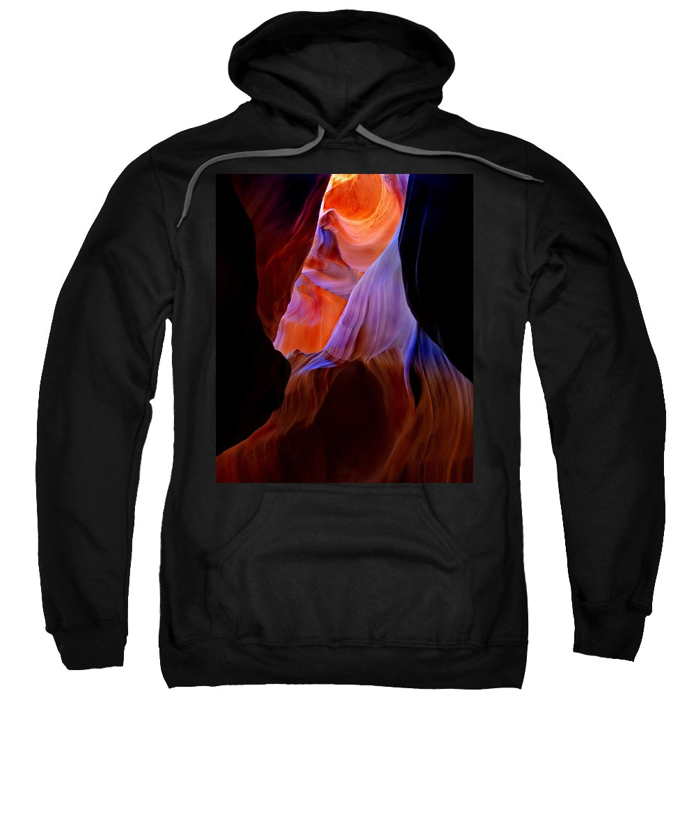 Canyon Sweatshirt featuring the photograph Bottled Light by Mike Dawson