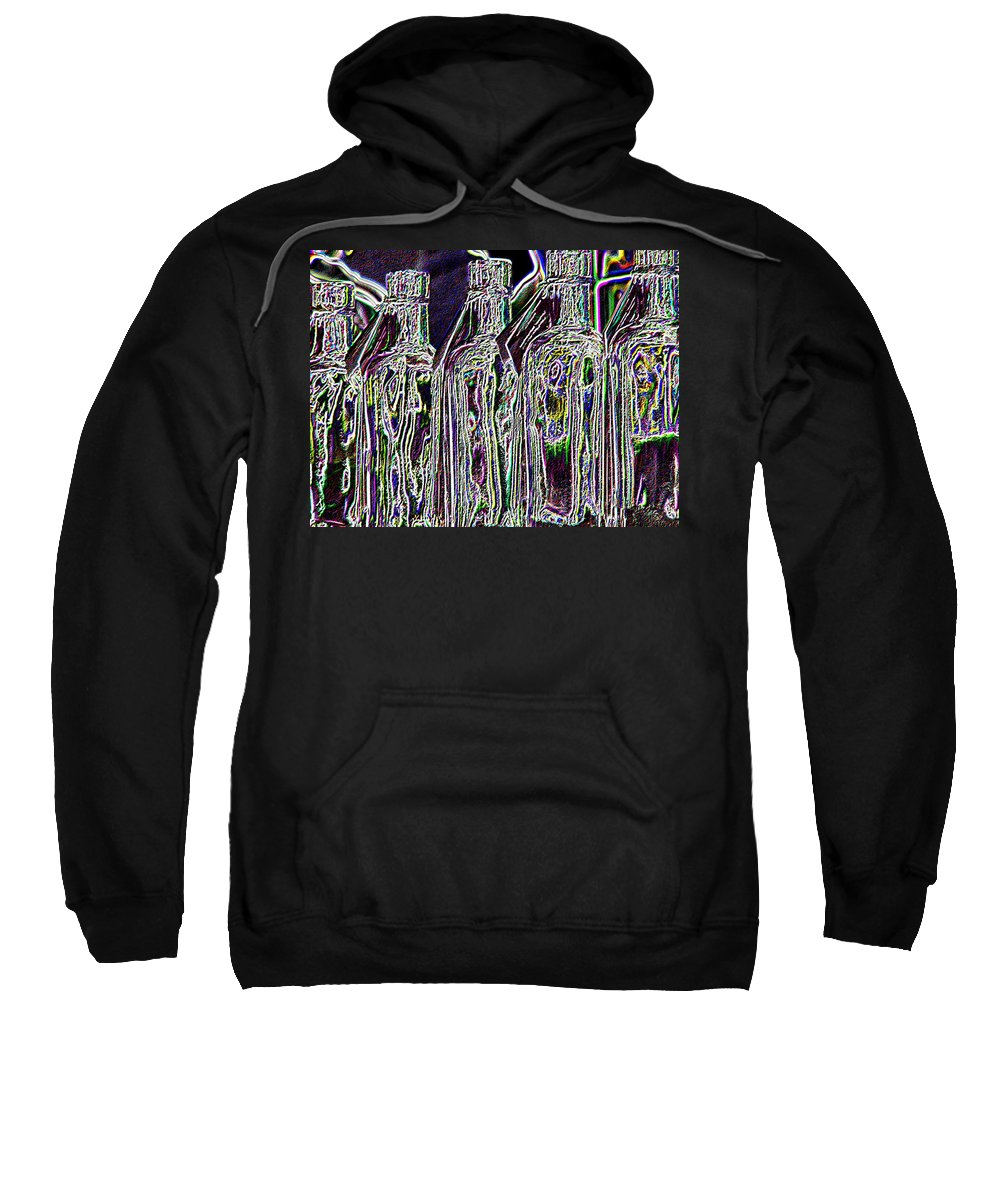 Bottles Sweatshirt featuring the digital art Bottles by Tim Allen