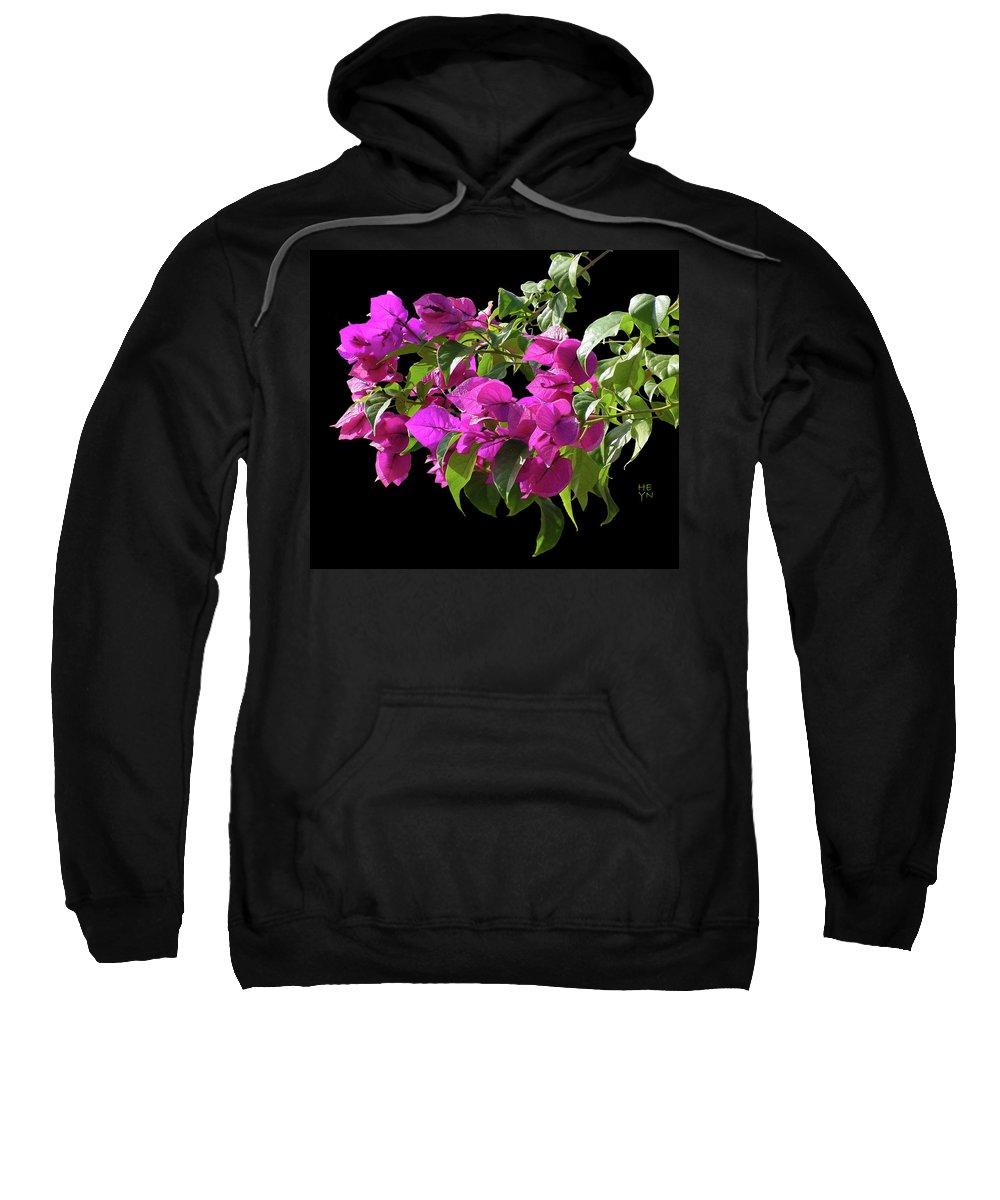 Cutout Sweatshirt featuring the photograph Bougainvillea Cutout by Shirley Heyn