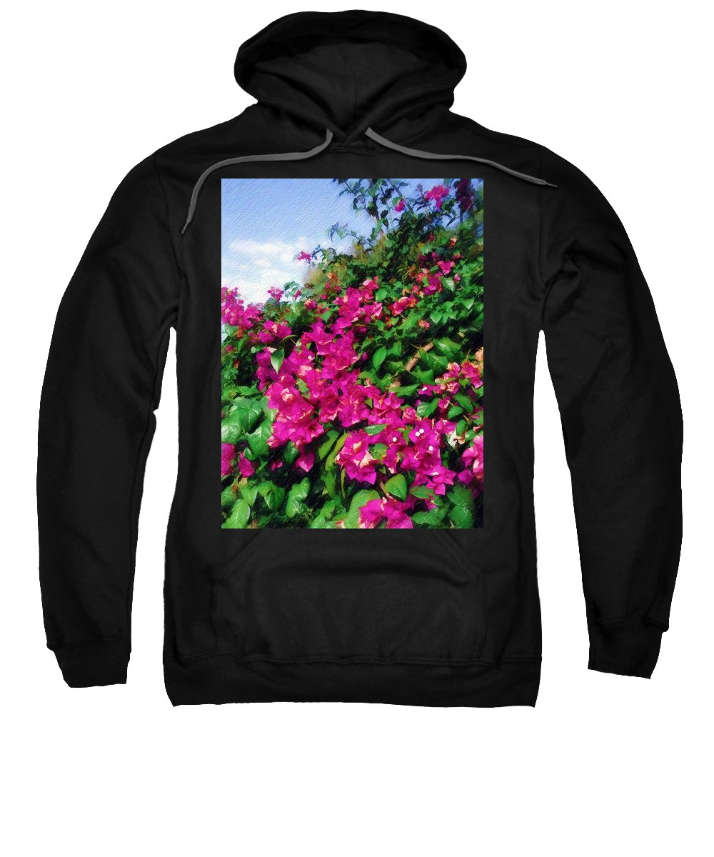 Bougainvillea Sweatshirt featuring the photograph Bougainvillea by Sandy MacGowan