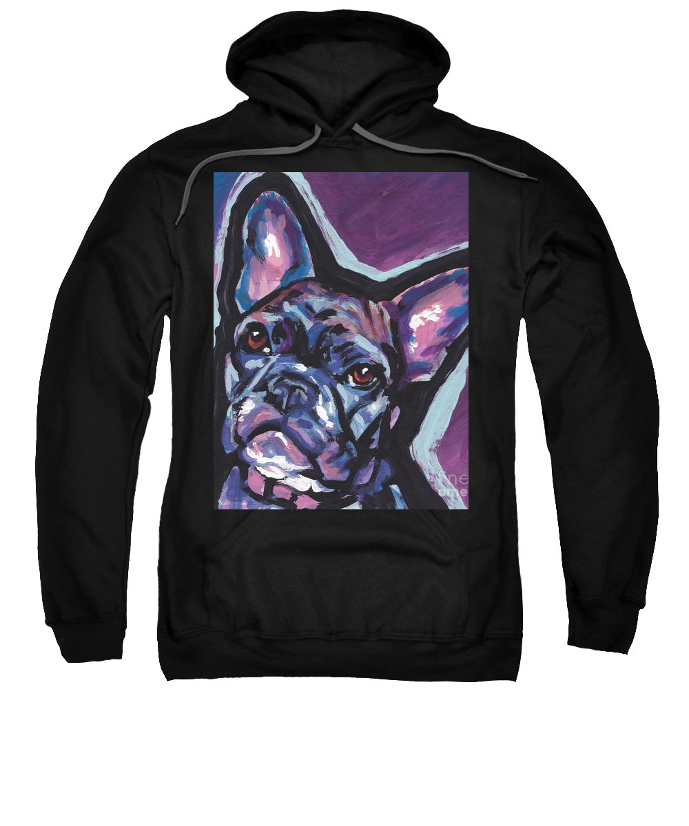 French Bulldog Sweatshirt featuring the painting Bouledogue Baby by Lea S