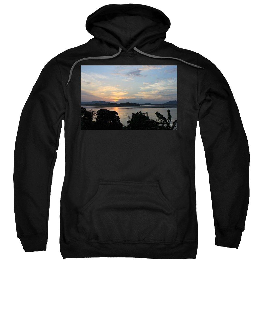 Brahmaputra Sweatshirt featuring the photograph Brahmaputra Sunset by Samiksa Art
