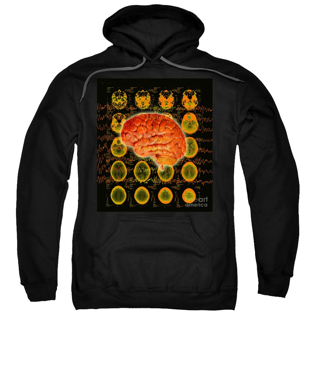 Brain Sweatshirt featuring the photograph Brain Composite by George Mattei