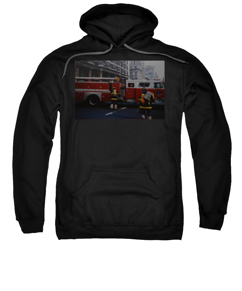 Fdny Sweatshirt featuring the photograph Bravest Of The Brave by Rob Hans