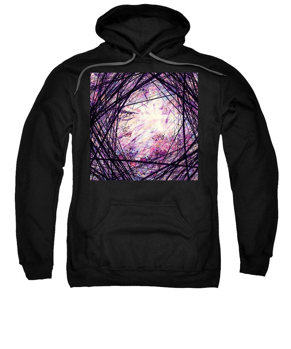Abstract Sweatshirt featuring the digital art Breakdown by Rachel Christine Nowicki