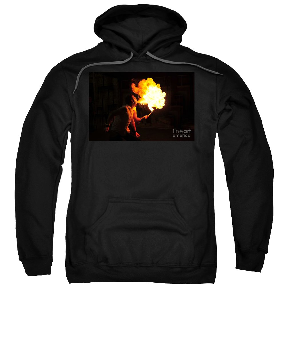 Fire Sweatshirt featuring the photograph Breath Of Fire by David Lee Thompson
