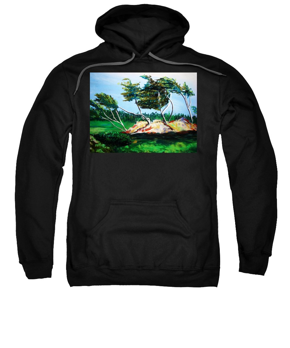 California Sweatshirt featuring the painting Breezy by Melinda Etzold