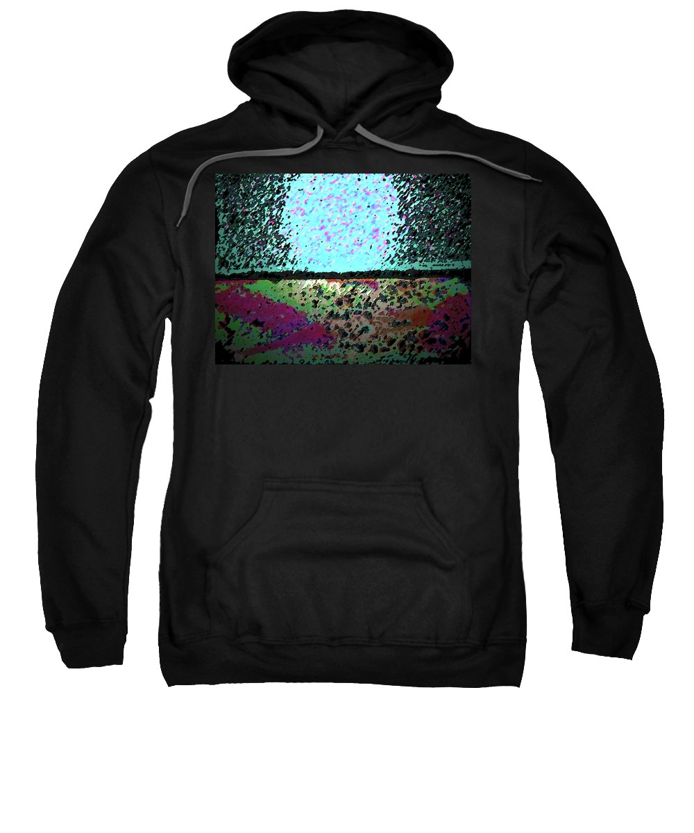 Abstract Sweatshirt featuring the digital art Brick And Cement Landscape by Lenore Senior