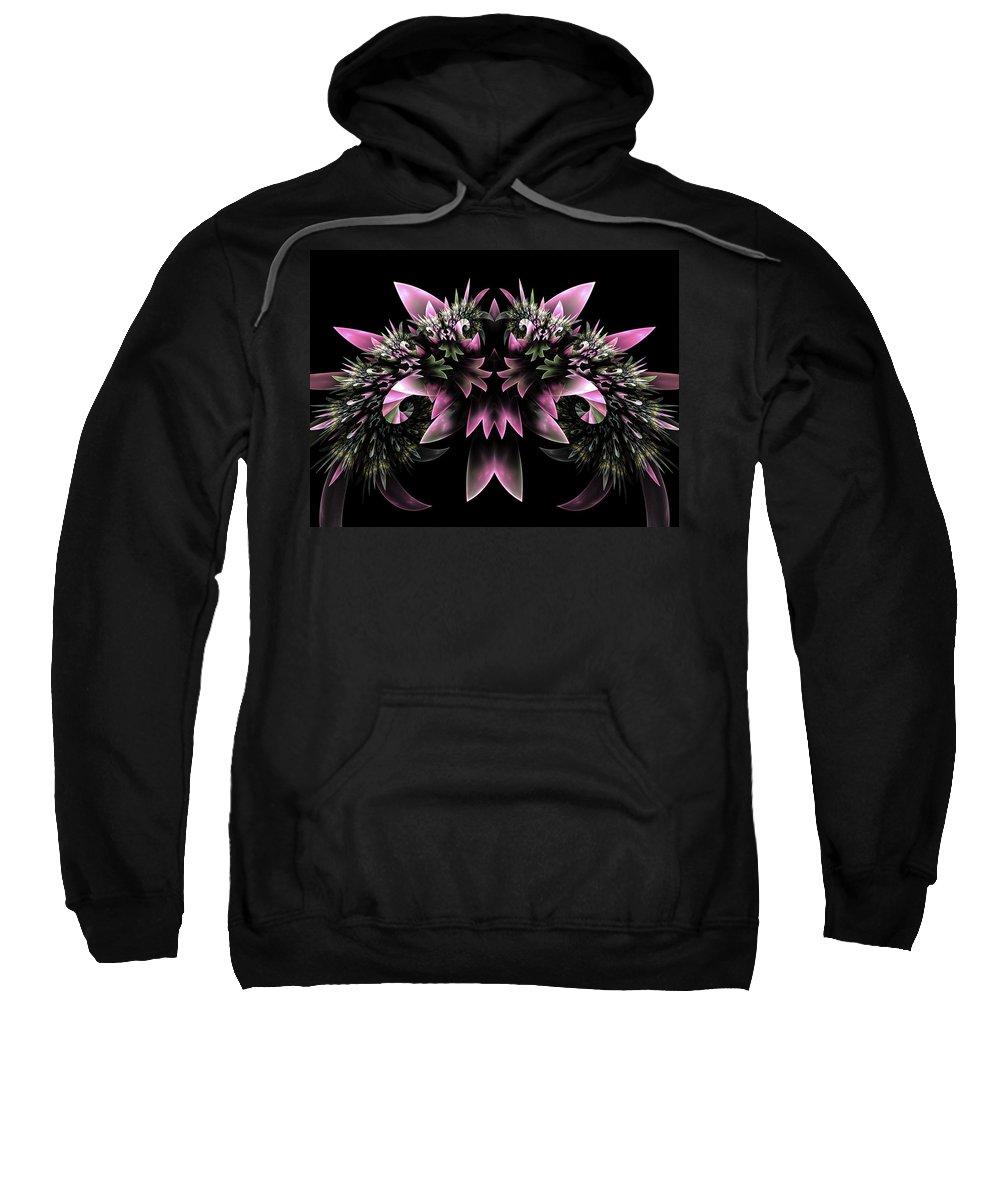 Fract Sweatshirt featuring the digital art Bridal Bouquet by Amorina Ashton