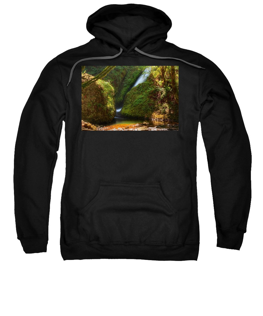 Falls Sweatshirt featuring the photograph Bridal Veil Falls by John Absher