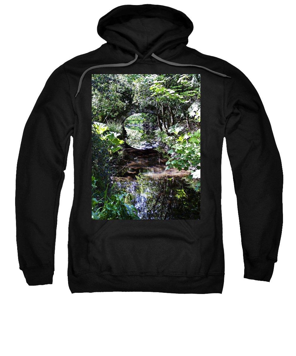 Irish Sweatshirt featuring the photograph Bridge Reflection At Blarney Caste Ireland by Teresa Mucha