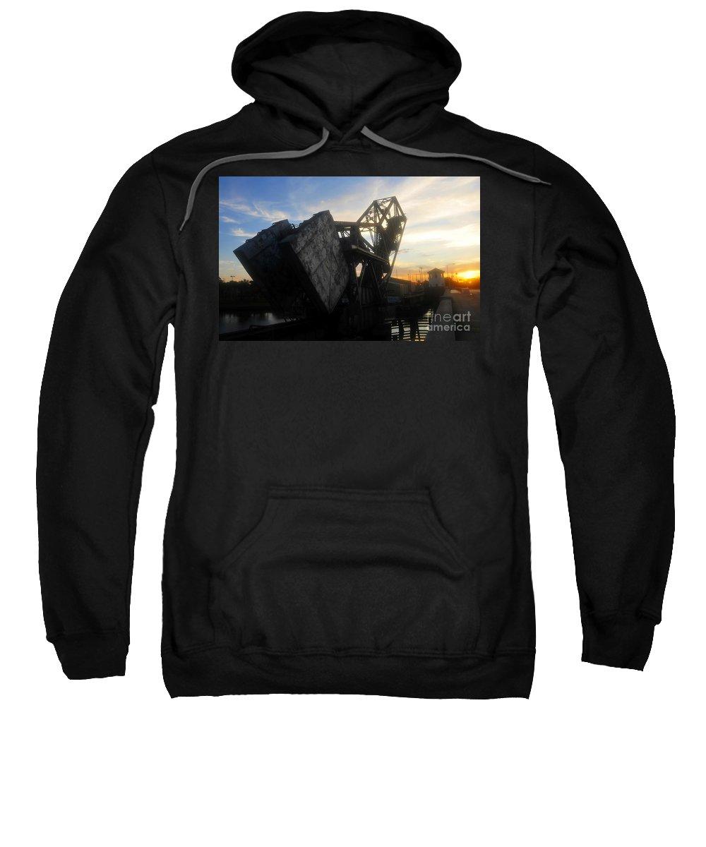 Bridge Sweatshirt featuring the photograph Bridge Sundown by David Lee Thompson