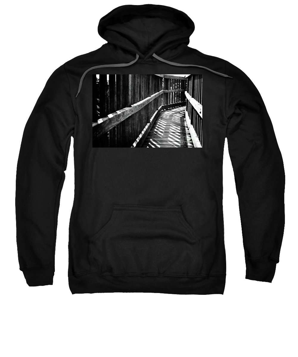 Black Sweatshirt featuring the photograph Bridge To Everywhere by Phill Petrovic