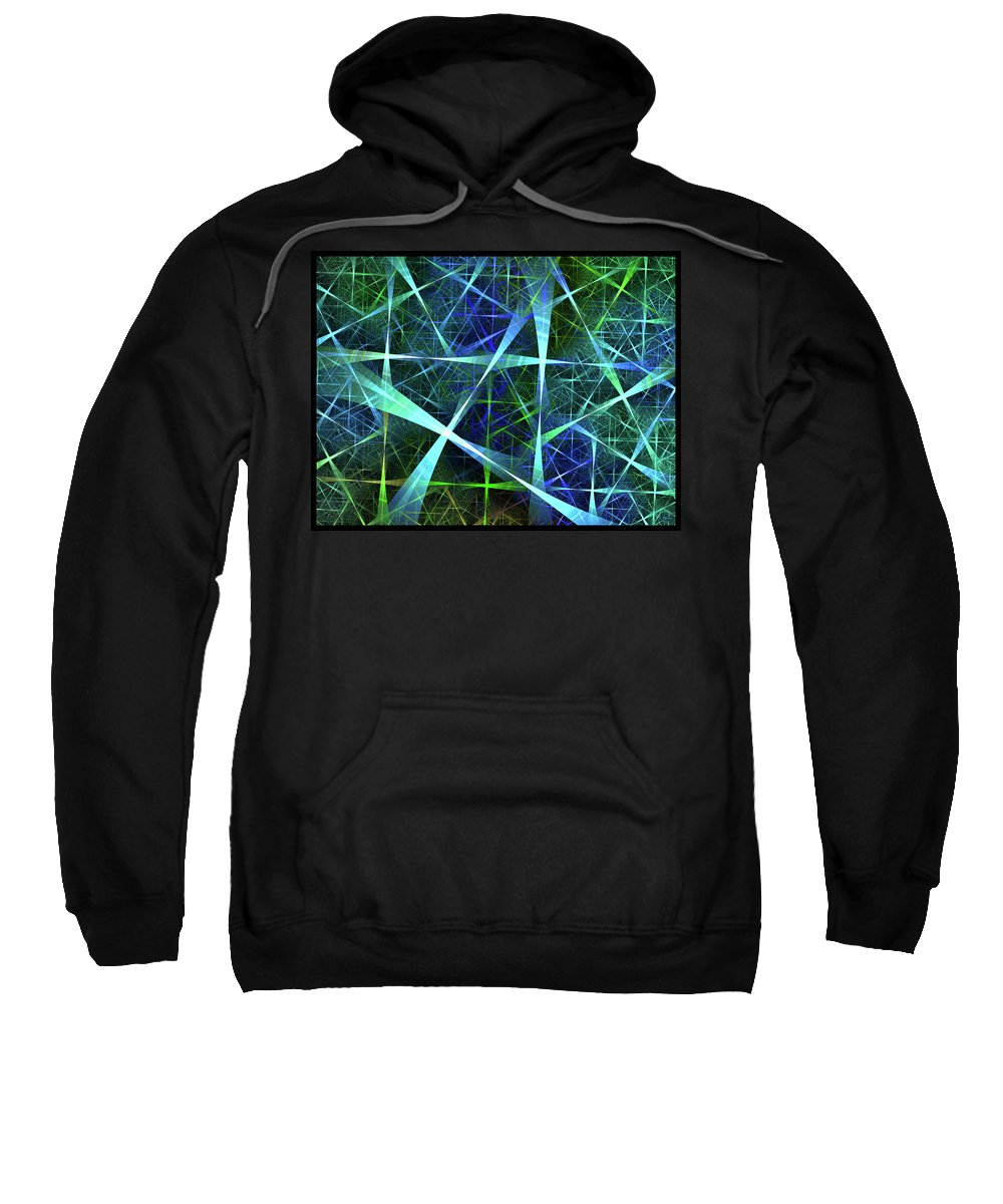 Fractal Sweatshirt featuring the digital art Briery by Brian Kenney