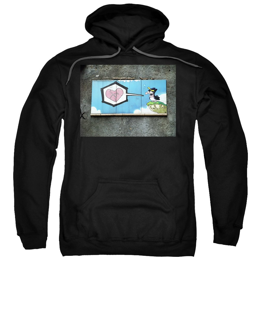 Graffiti Sweatshirt featuring the photograph Broken Heart by Roger Muntes