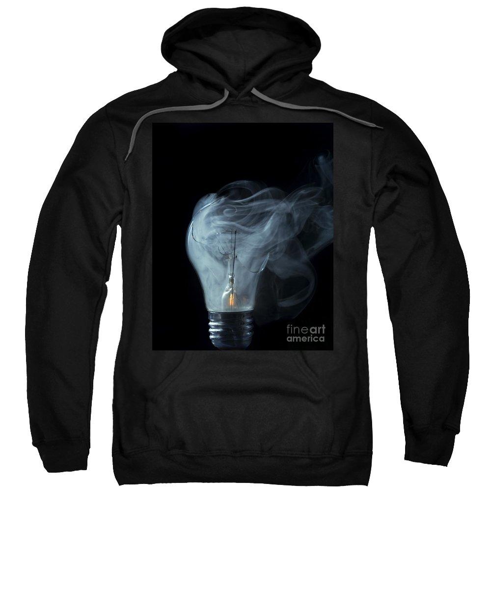 Light Sweatshirt featuring the photograph Broken Light Bulb by Michal Boubin
