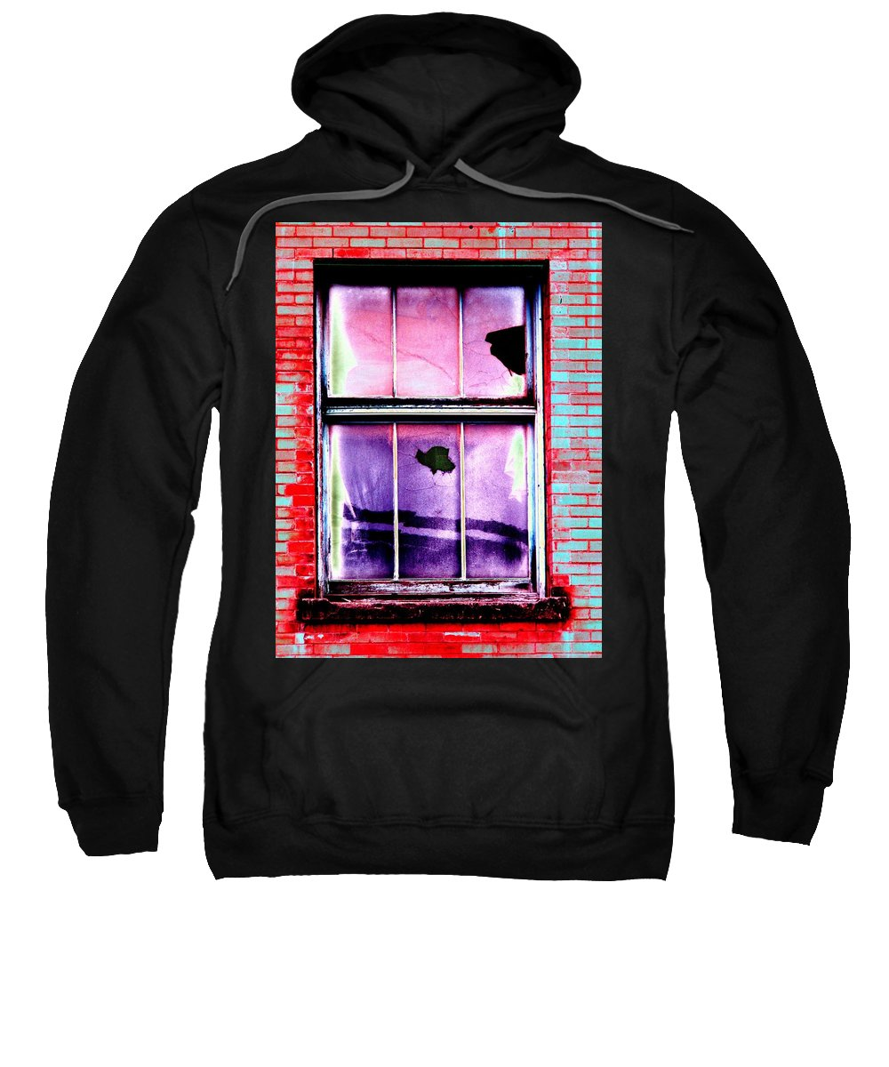 Window Sweatshirt featuring the photograph Broken Window by Tim Allen