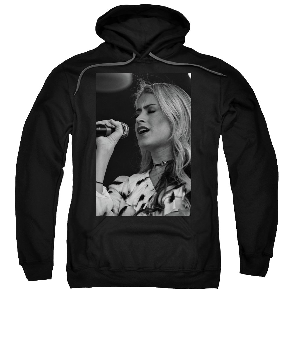 Music Sweatshirt featuring the photograph Brook Eden In Concert by Mike Martin