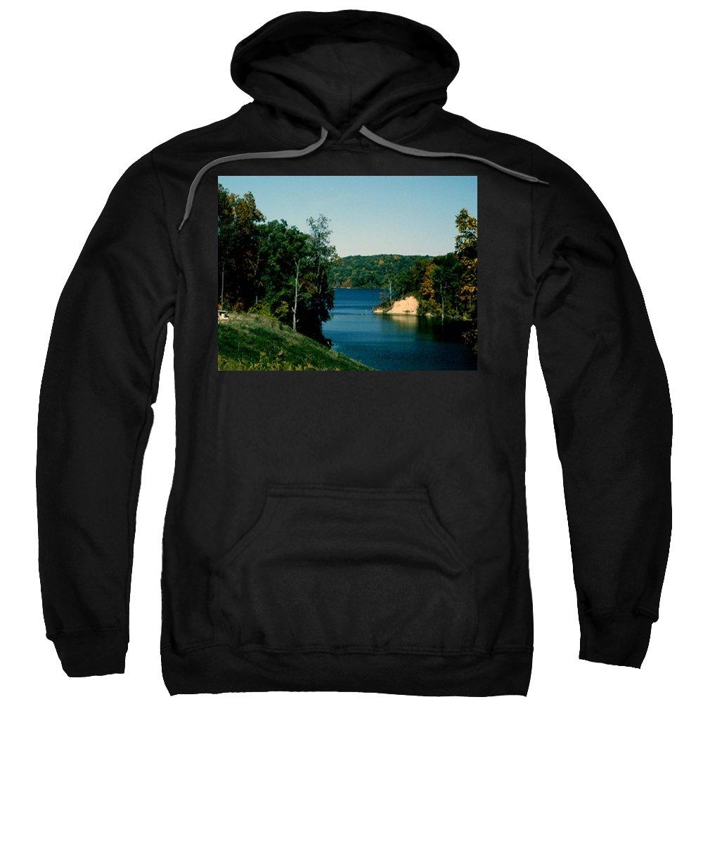 Brookville Indiana Sweatshirt featuring the photograph Brookville Lake Brookville Indiana by Gary Wonning