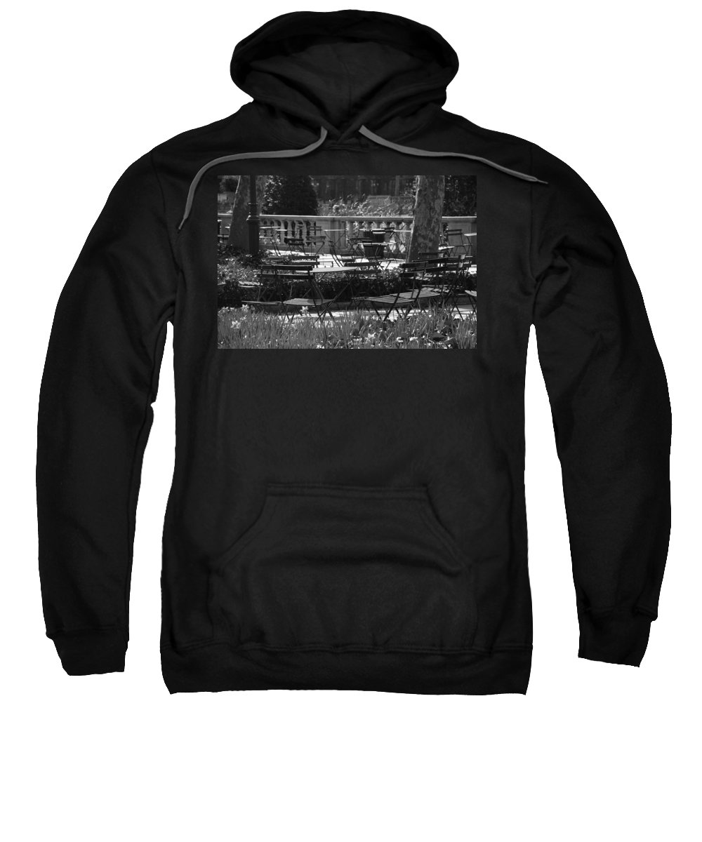 Black And White Sweatshirt featuring the photograph Bryant Park In Black And White by Rob Hans
