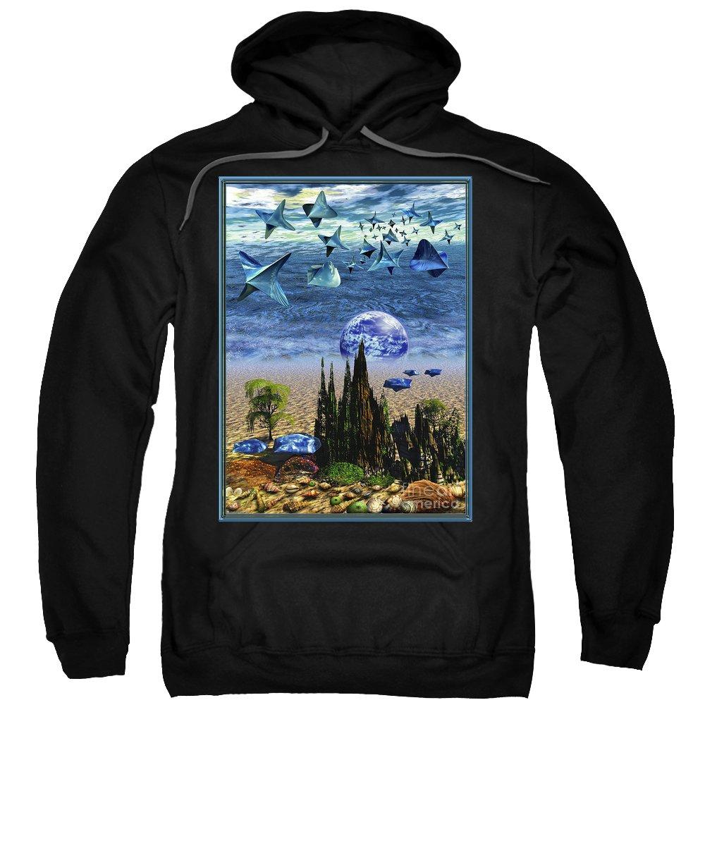 Aliens Sweatshirt featuring the digital art Brycemania by Leonard Rubins