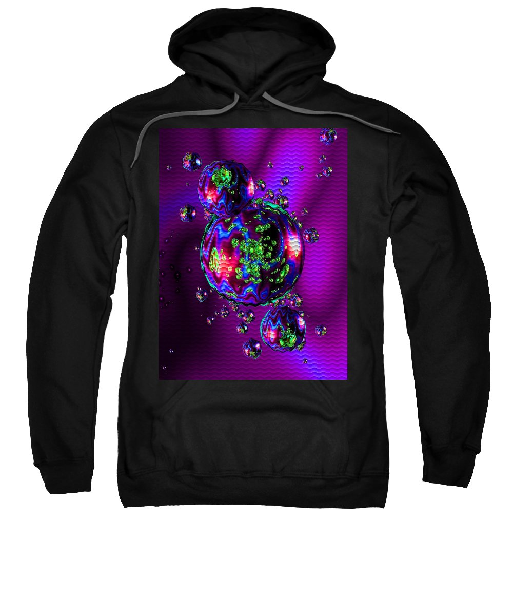 Announcement Sweatshirt featuring the photograph Bubbliana Catus 2 No. 12 V B by Gert J Rheeders