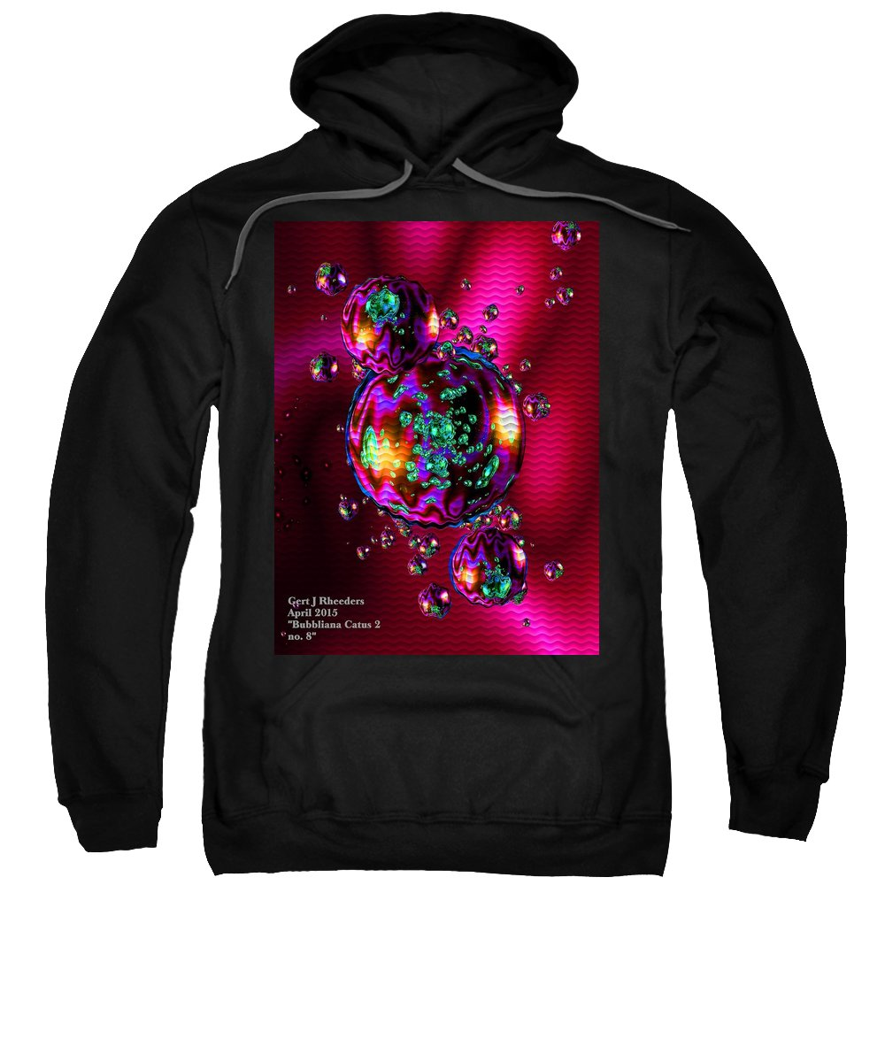 Announcement Sweatshirt featuring the painting Bubbliana Catus 2 No. 8 V A by Gert J Rheeders