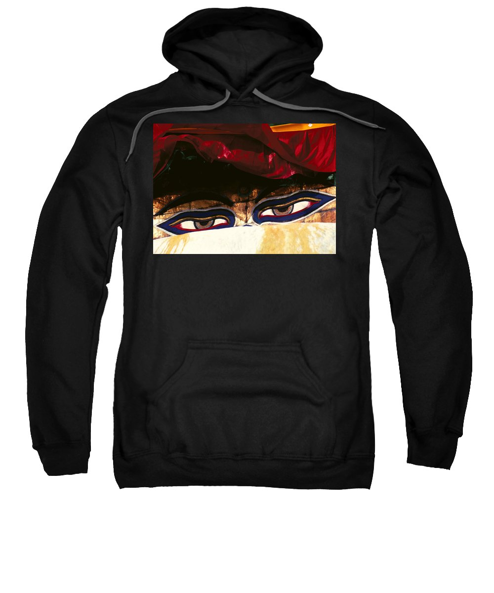 Eyes Sweatshirt featuring the photograph Buddha Eyes by Patrick Klauss