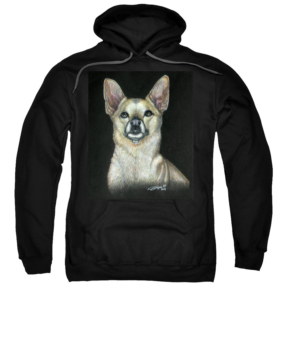 Fuqua - Artwork Sweatshirt featuring the drawing Buffy by Beverly Fuqua