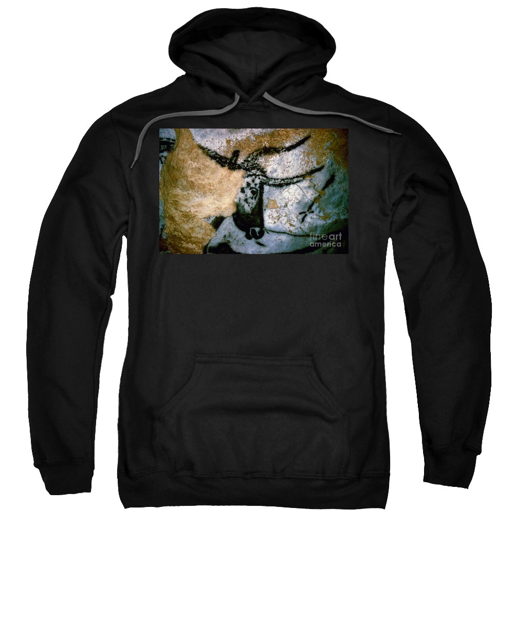 Bull Sweatshirt featuring the photograph Bull: Lascaux, France by Granger