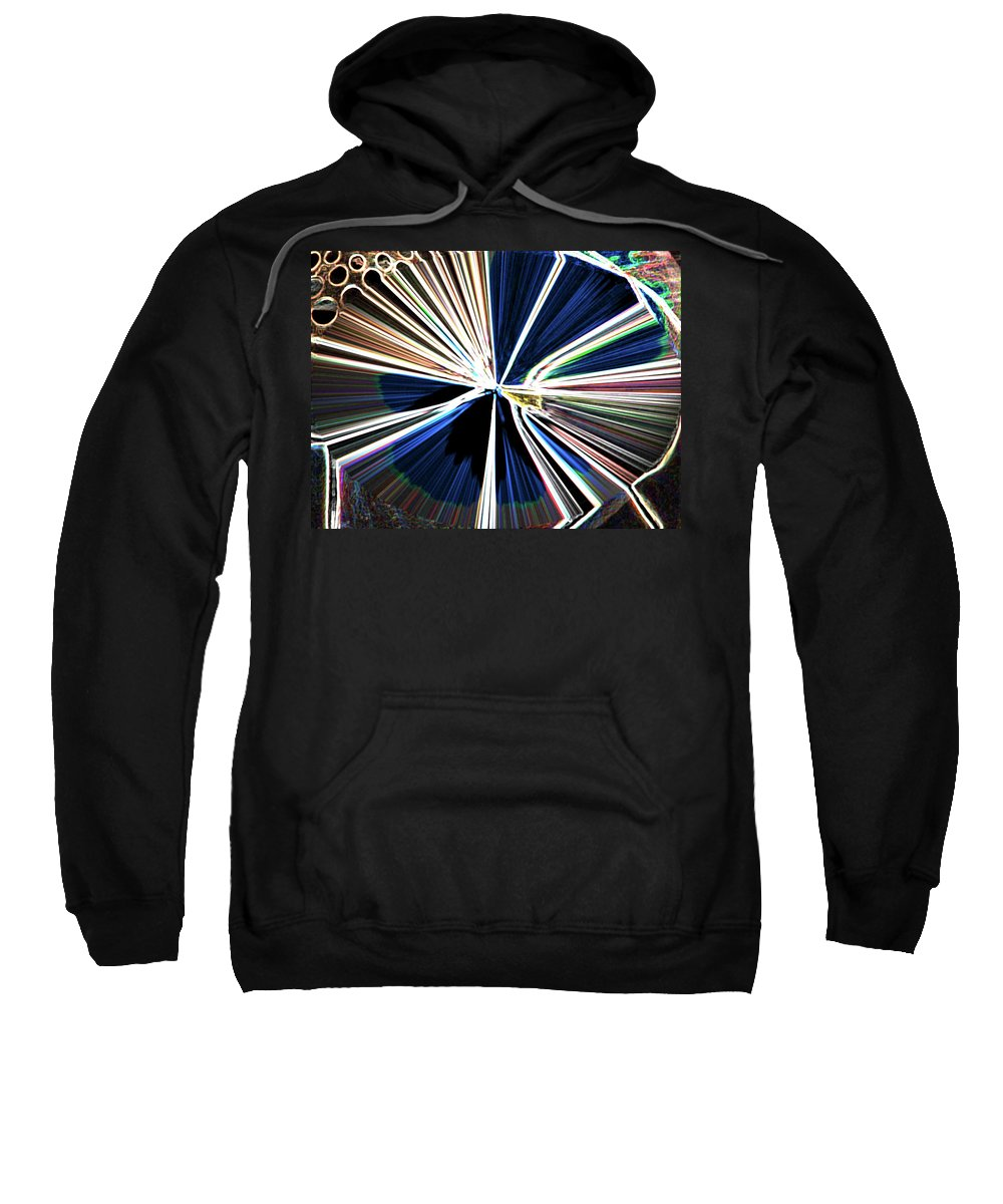 Abstract Sweatshirt featuring the digital art Bullets In The Chamber by Lenore Senior