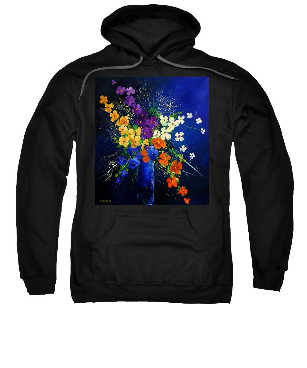 Poppies Sweatshirt featuring the print Bunch 0408 by Pol Ledent