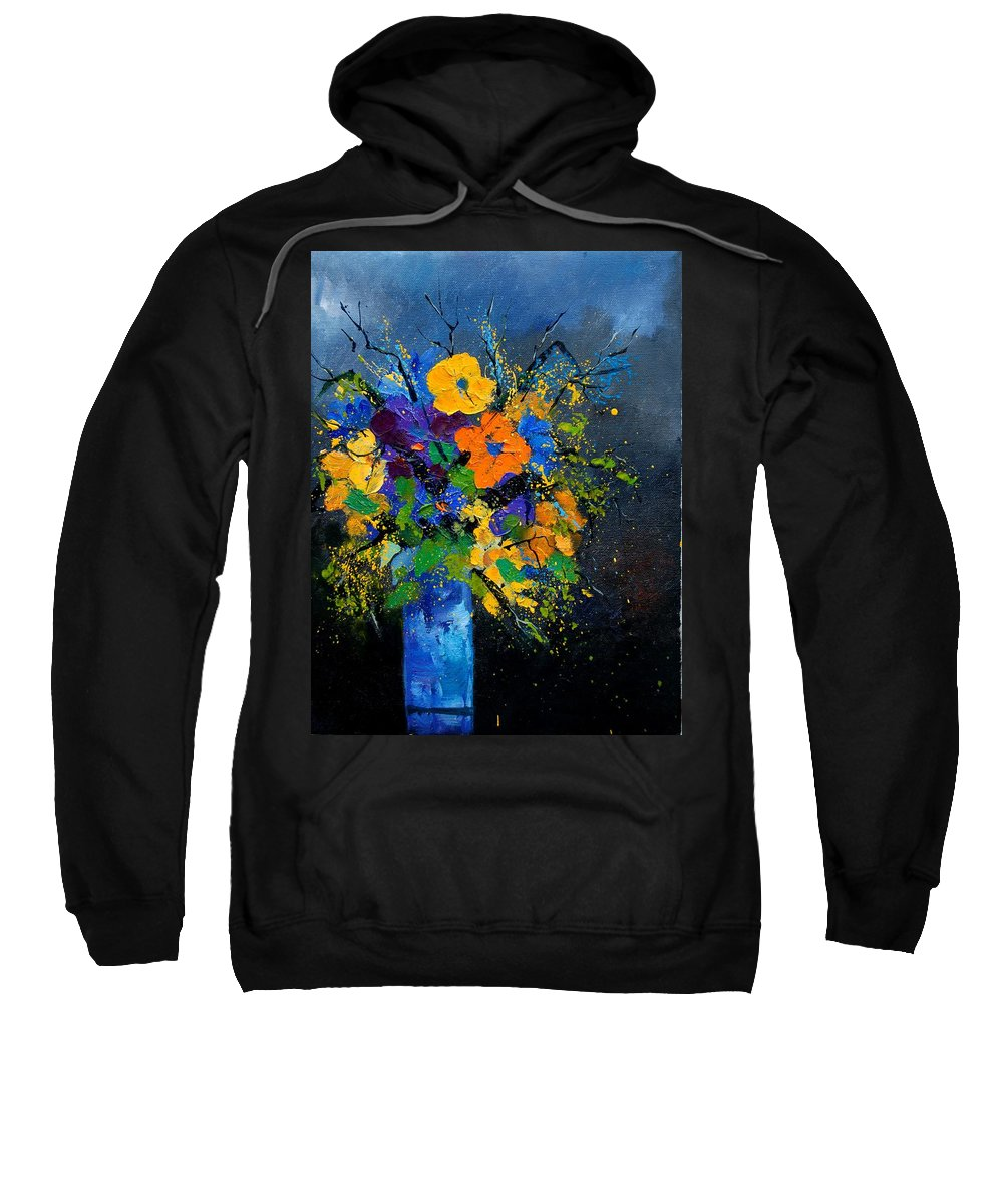 Poppies Sweatshirt featuring the painting Bunch 1007 by Pol Ledent