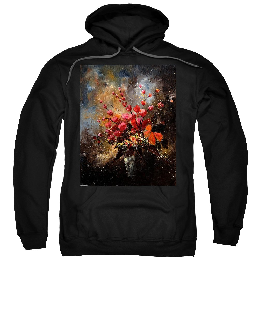 Poppies Sweatshirt featuring the painting Bunch 1207 by Pol Ledent