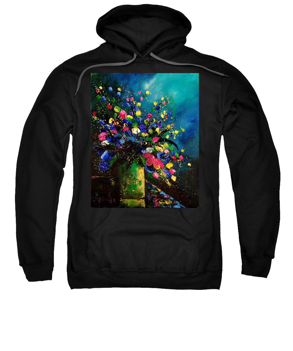 Poppies Sweatshirt featuring the painting Bunch 45 by Pol Ledent