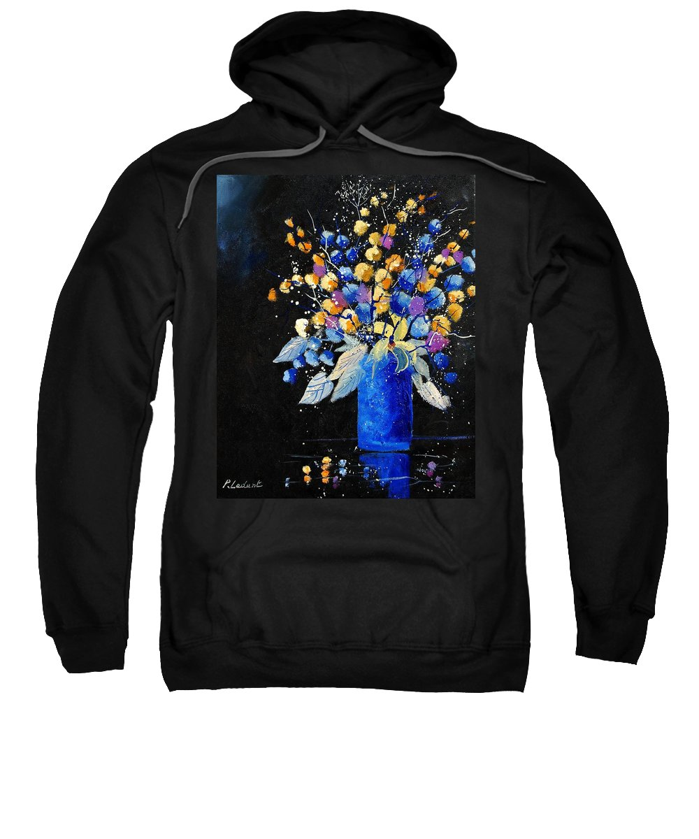 Flowers Sweatshirt featuring the painting Bunch 451008 by Pol Ledent