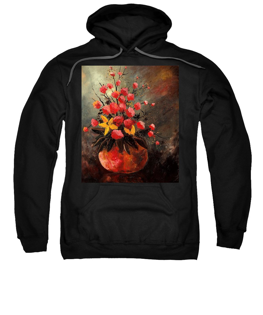 Flowers Sweatshirt featuring the painting Bunch 569060 by Pol Ledent