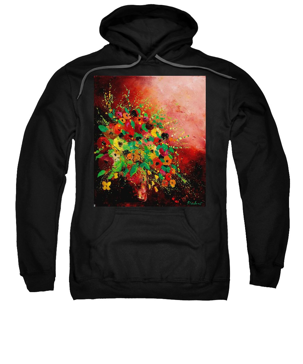Flowers Sweatshirt featuring the painting Bunch of flowers 0507 by Pol Ledent