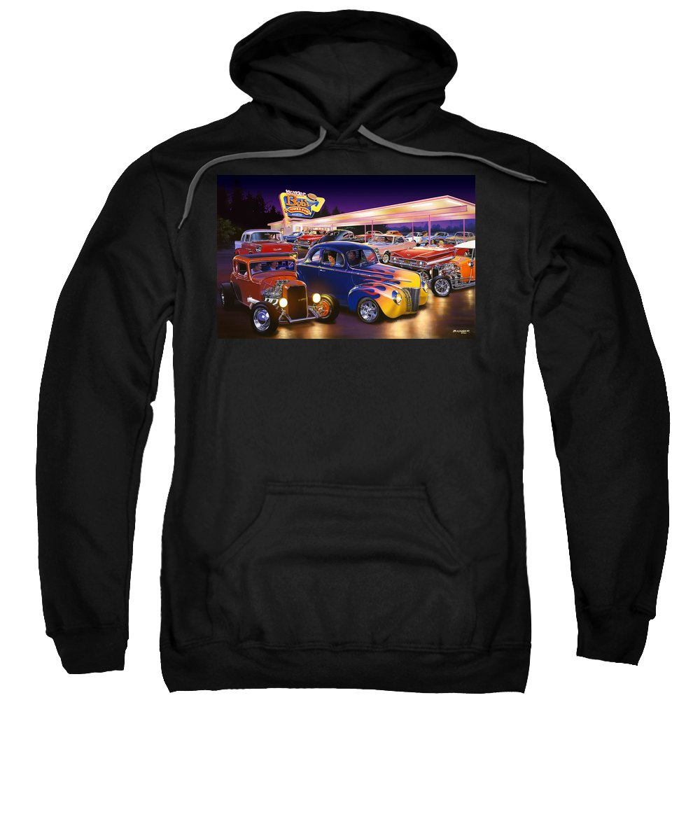 America Sweatshirt featuring the photograph Burger Bobs by Bruce Kaiser