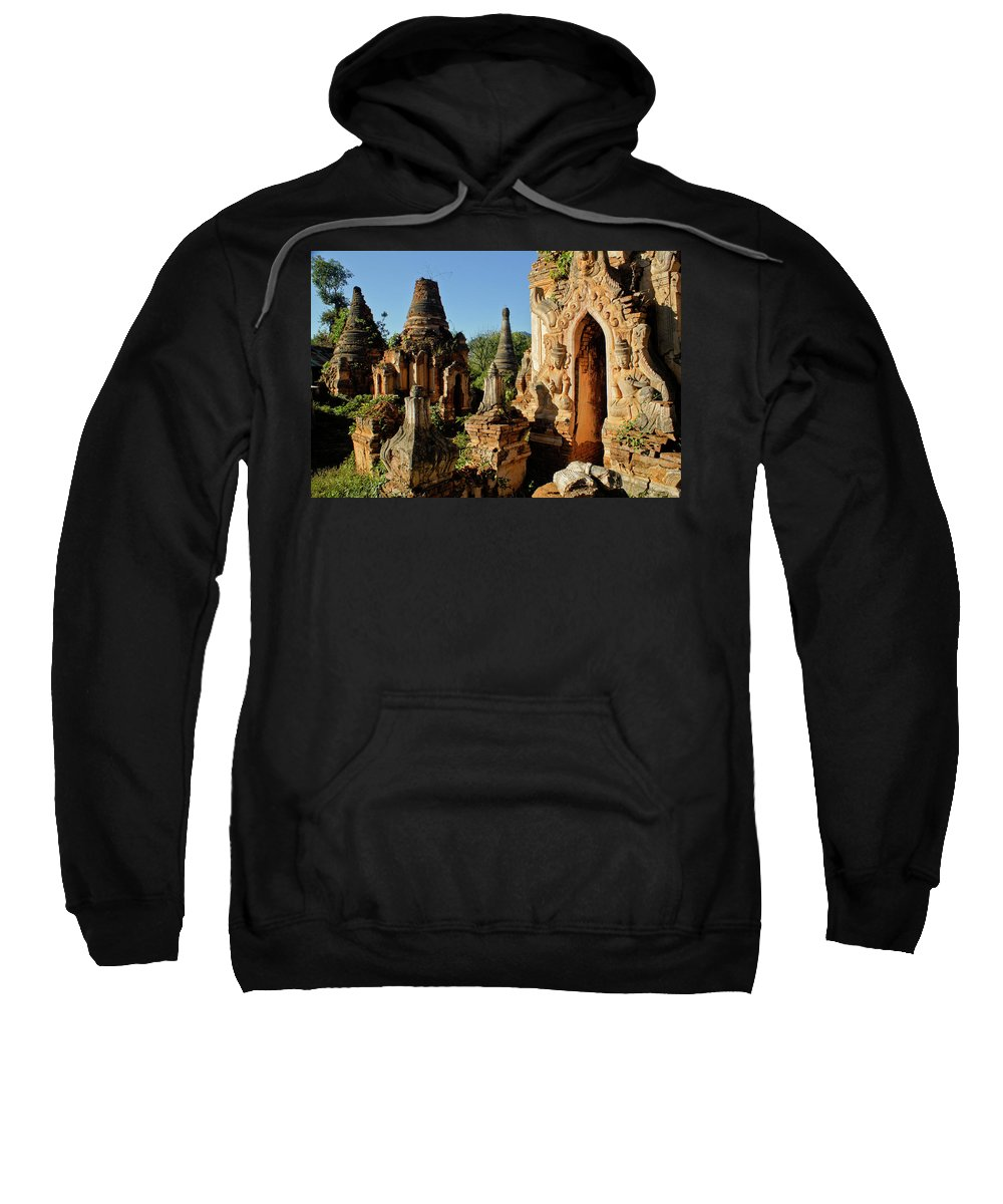 Asia Sweatshirt featuring the photograph Burmese Pagodas In Ruins by Michele Burgess