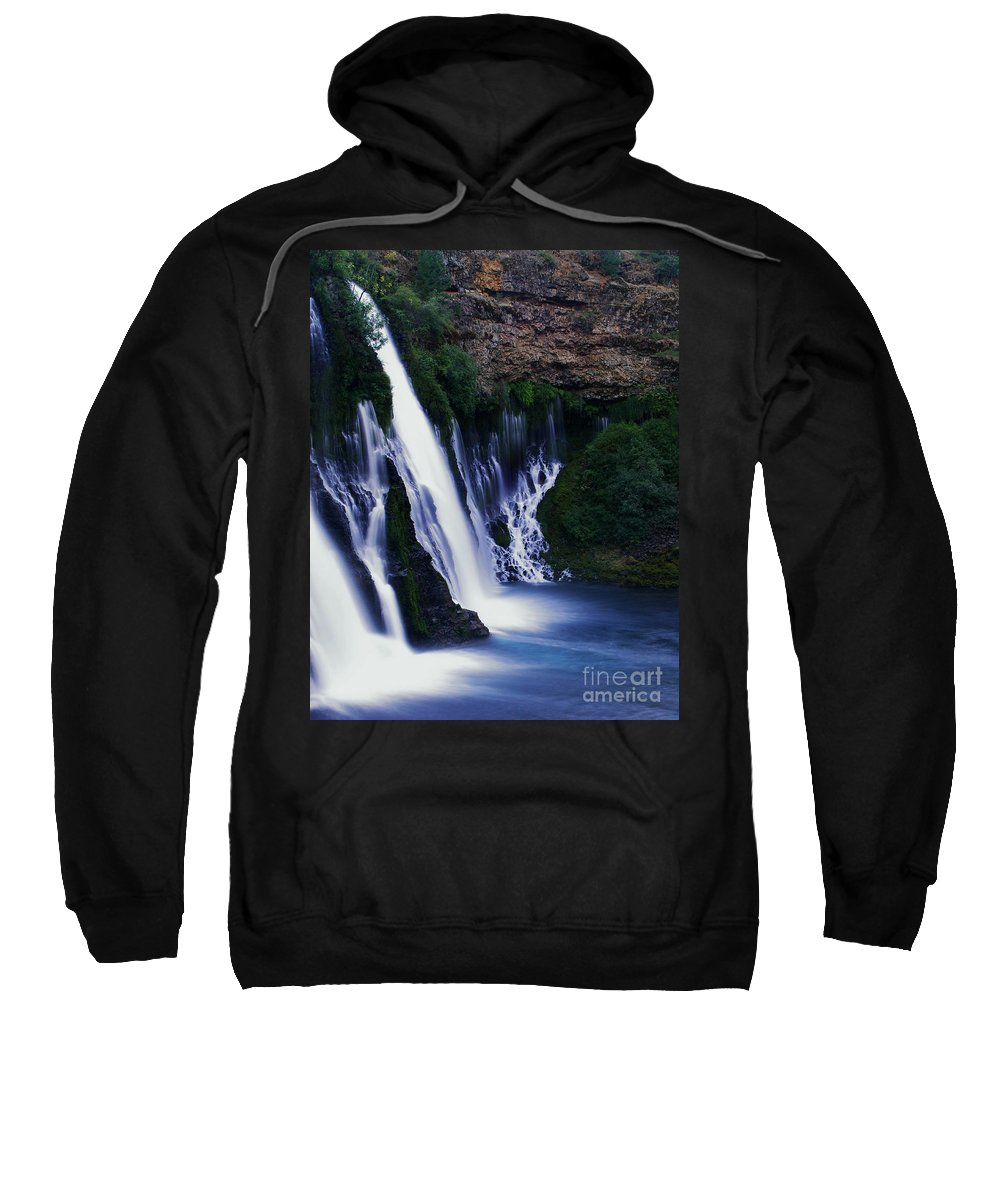 River Sweatshirt featuring the photograph Burney Blues by Peter Piatt
