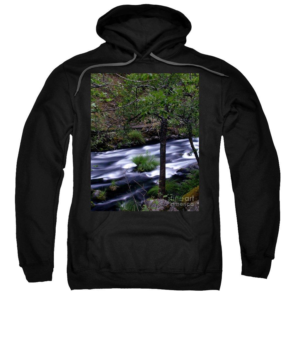 River Sweatshirt featuring the photograph Burney Creek by Peter Piatt