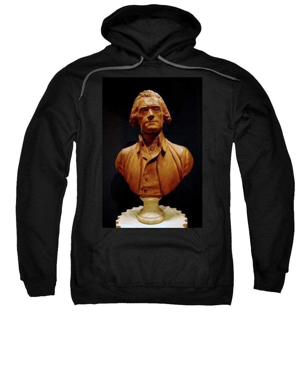 Usa Sweatshirt featuring the photograph Bust Of Thomas Jefferson by LeeAnn McLaneGoetz McLaneGoetzStudioLLCcom